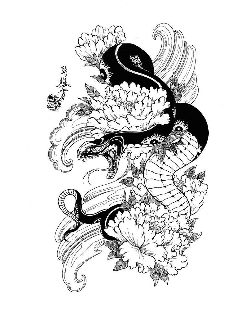 Tattooideas Tattoodesigns In 2020 Japanese Tattoo Designs Japanese Snake Tattoo Japanese Tattoo