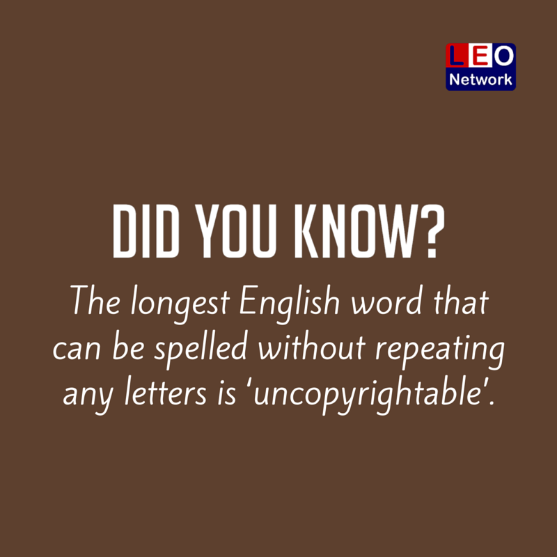 Longest Word Ever In Any Language - Letter