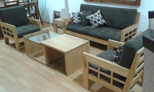 Muebles sala madera pino puedes escoger el tapiz que for Muebles de sala en oferta lima peru