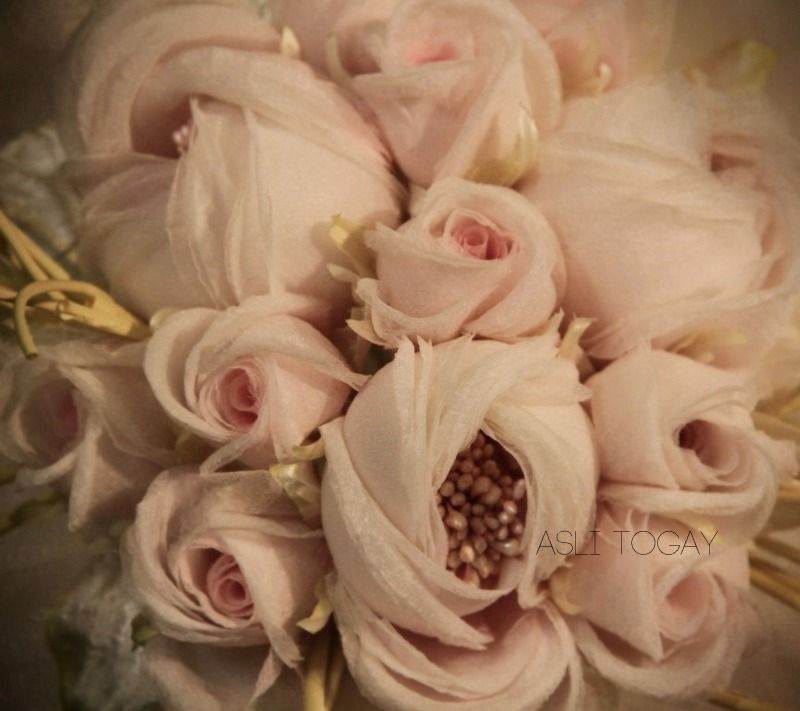 Handmade bouquet pur silk weddngs bridal bouquet pinterest fabric flowers handmade bouquet pur silk mightylinksfo