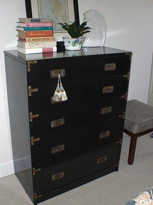 Campaign Chest Makeover Campaign Dresser Redo Furniture Malm