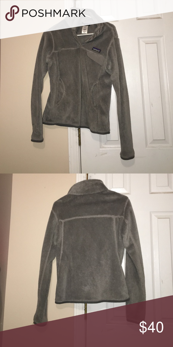Grey Patagonia jacket Women's fit S grey soft Patagonia. Worn a few times. Patagonia Jackets & Coats Utility Jackets