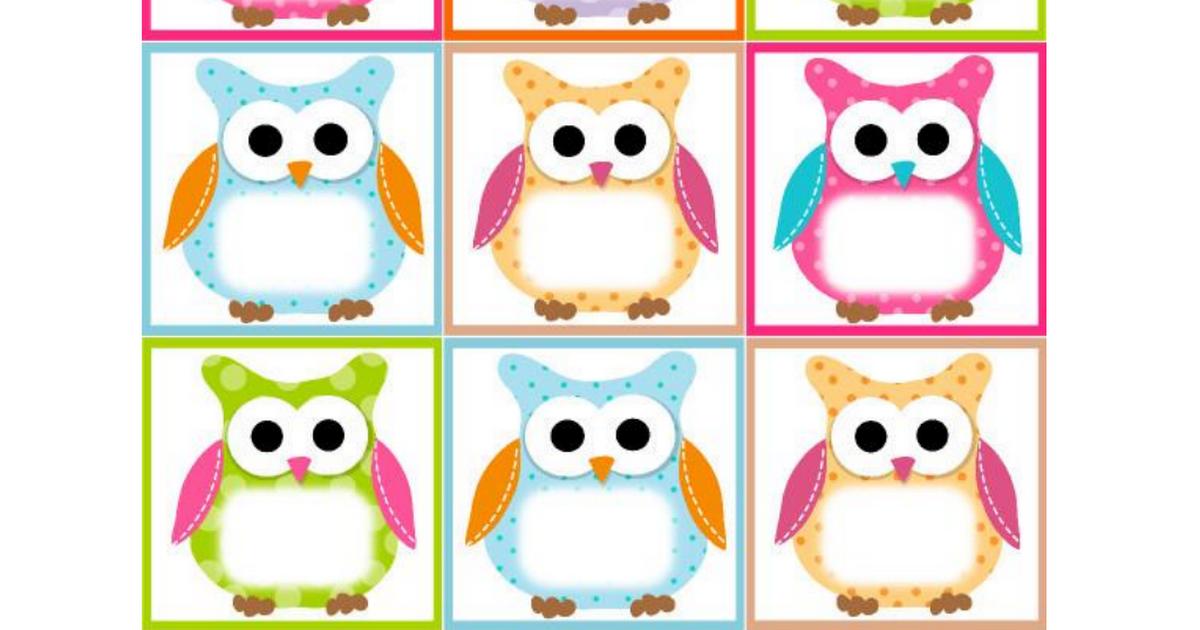 Owl Labels Template.pdf