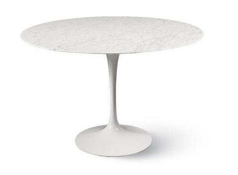 Eero Saarinen Tulip Table Round Dining 48 Inch Saarinen Tulip