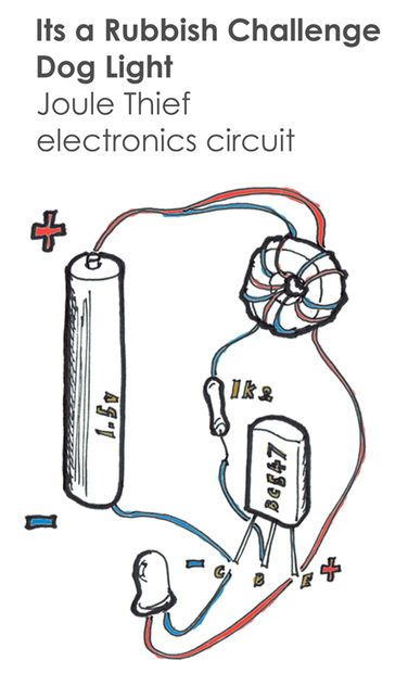 Joule Thief Dog Light Electronic Proyect And Computer Pinterest