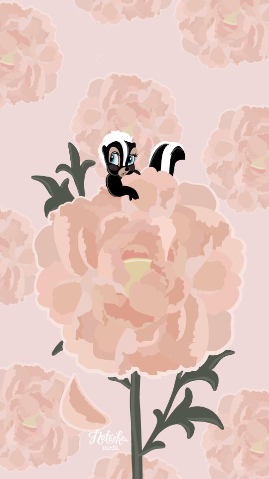 Disney Bambi Fleur IPhone Wallpaper Peonies Lock Screen For 5 6