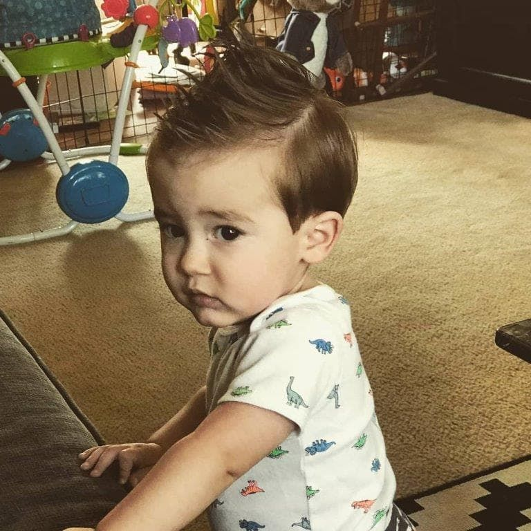 1 Year Old Boy With Spiky Hairstyle Baby Boy Hairstyles Boys Haircuts 1 Year Old Boy Haircut