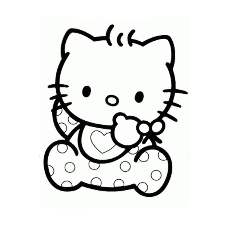 coloriage-hello-kitty-baby.jpg (760×760) | Hello kitty colouring pages, Hello kitty coloring ...