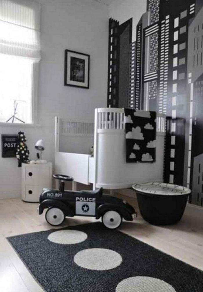 wandgestaltung schwarz weiß wohnzimmer einrichten muster Pinterest - wohnzimmer wandgestaltung schwarz weis