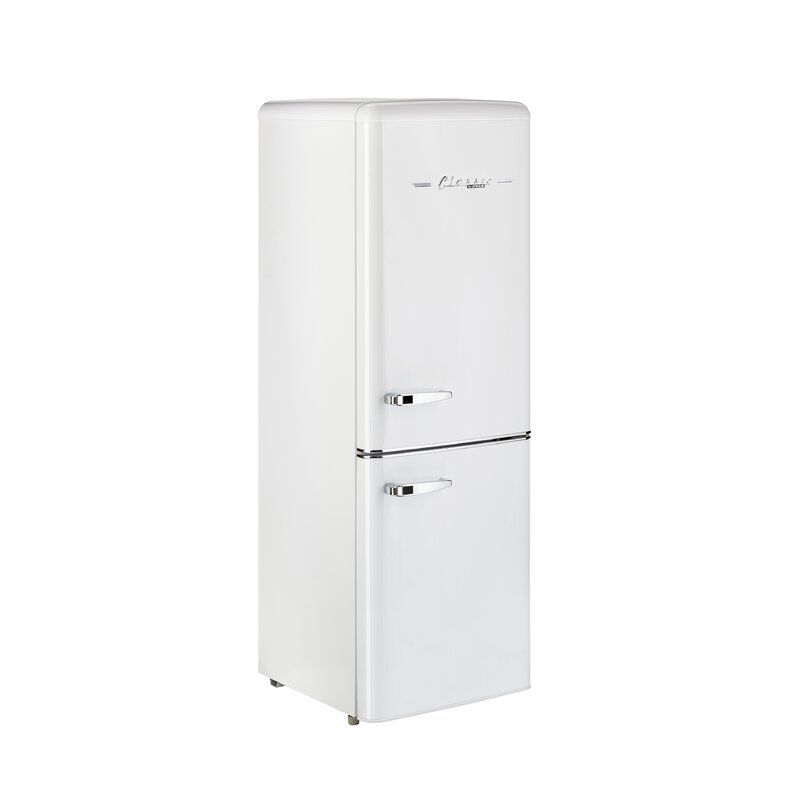 Unique Classic Retro 22 Bottom Freezer Energy Star 7 Cu Ft Refrigerator Wayfair In 2020 Bottom Freezer Refrigerator Bottom Freezer Retro Refrigerator