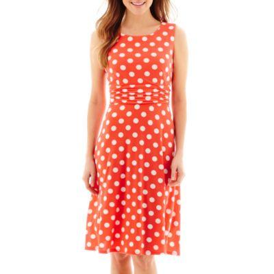 RN Studio by Ronni Nicole Sleeveless Polka Dot A-Line Dress - Petite