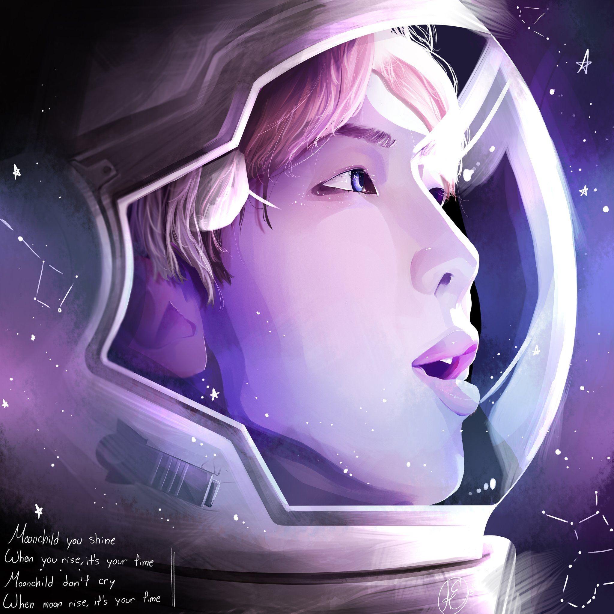 Photo of Namjoon  Moonchild ★ BTS RM Fan Art ?©️awkwardaxiony