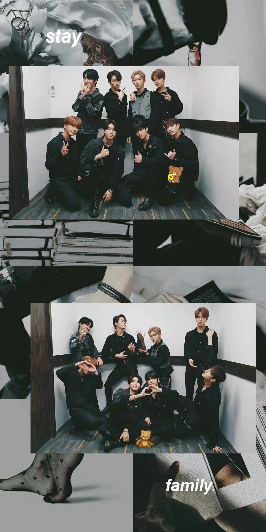Stray Kids Wallpaper Aesthetic Ot8 First Photo Stay Whoever Read This Stay Strong We Have To Give Them More Strength I L Wallpaper Ponsel Gambar Artis