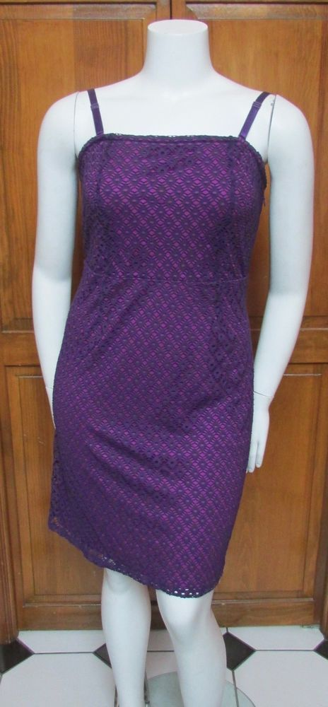Lane Bryant Purple Knee Length Dress