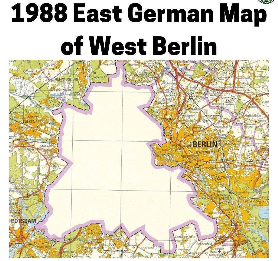 deutschlandkarte 1988 1988 East German Map of West Berlin | German map, West berlin, Map