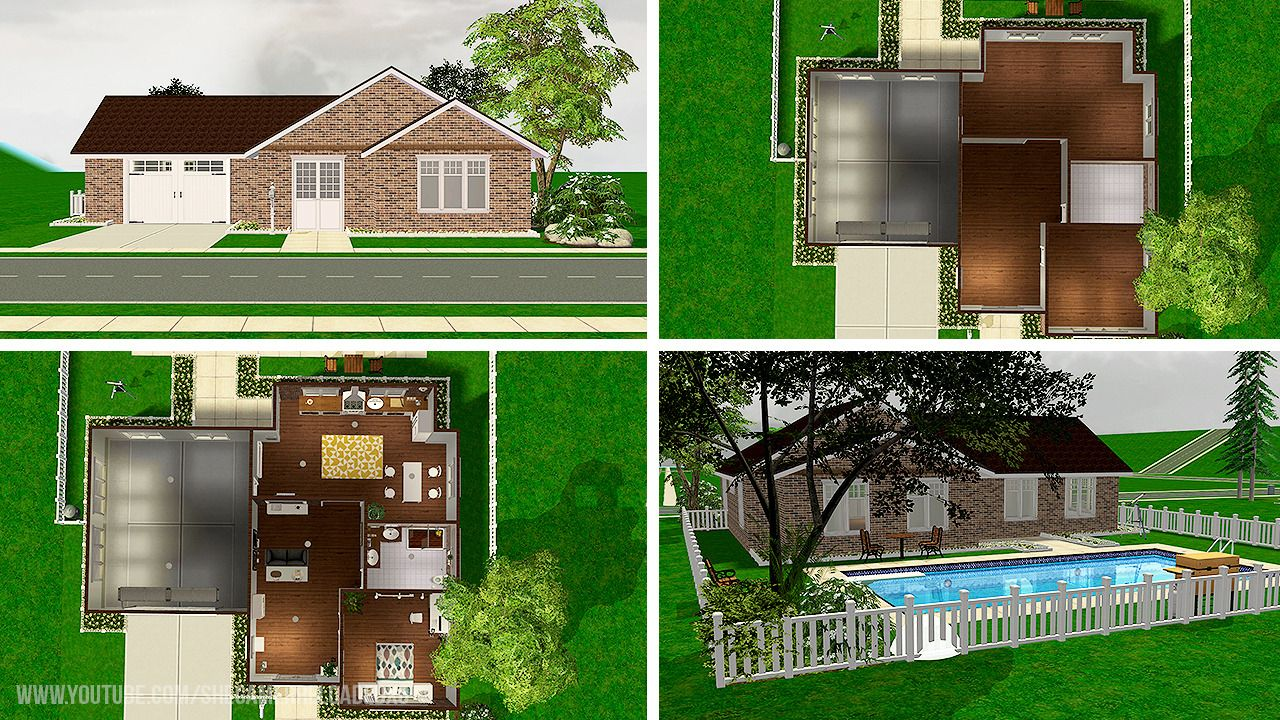 Shegamerxo Sims 2 House Brickston This Is A Simple House Sims House Sims 2 House Simple House