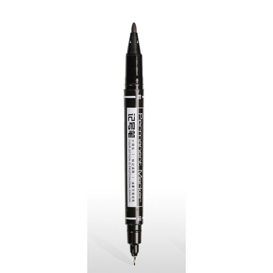 Useful Waterproof Ink Thin Crude Nib Black Fine Colour Marker Deli