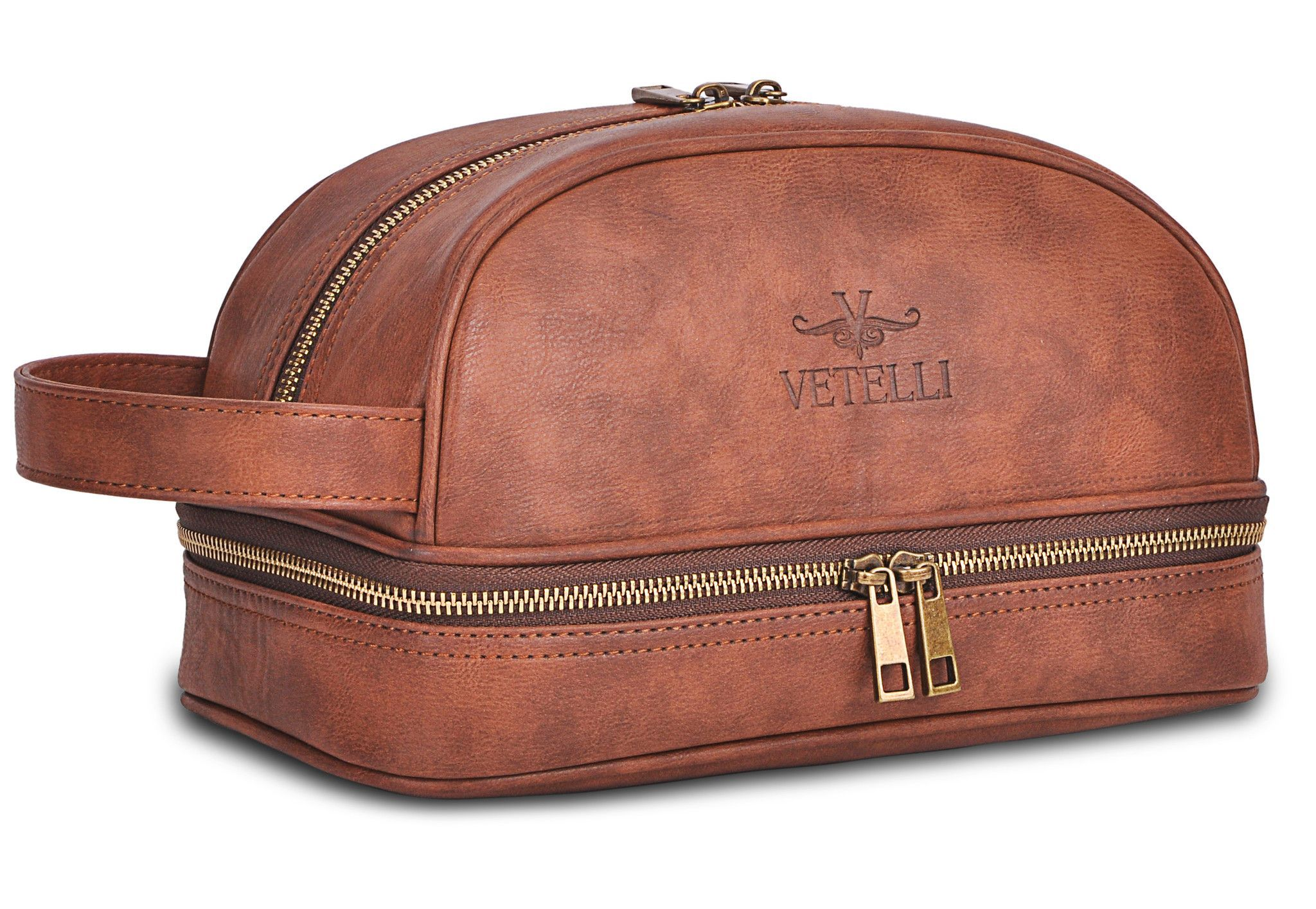 Classic Leather Toiletry Bag