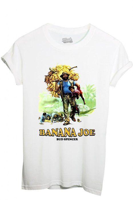 T-Shirt Banana Joe Bud Spencer - Film By Mush Dress Your Style - Woman-L  White 64eaee21bc