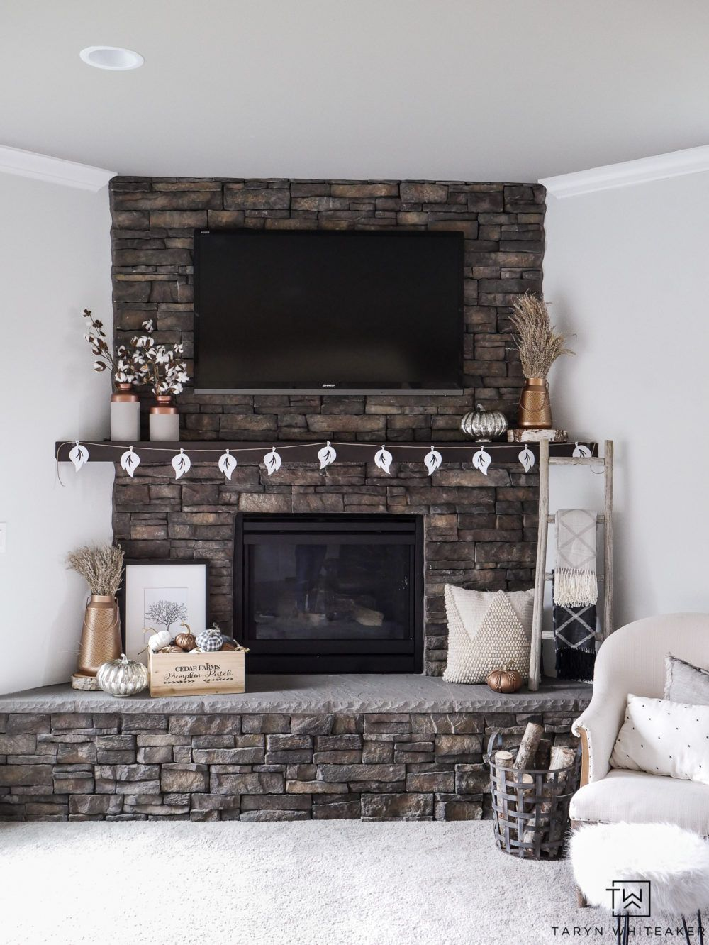 Neutral and Copper Fall Mantel images