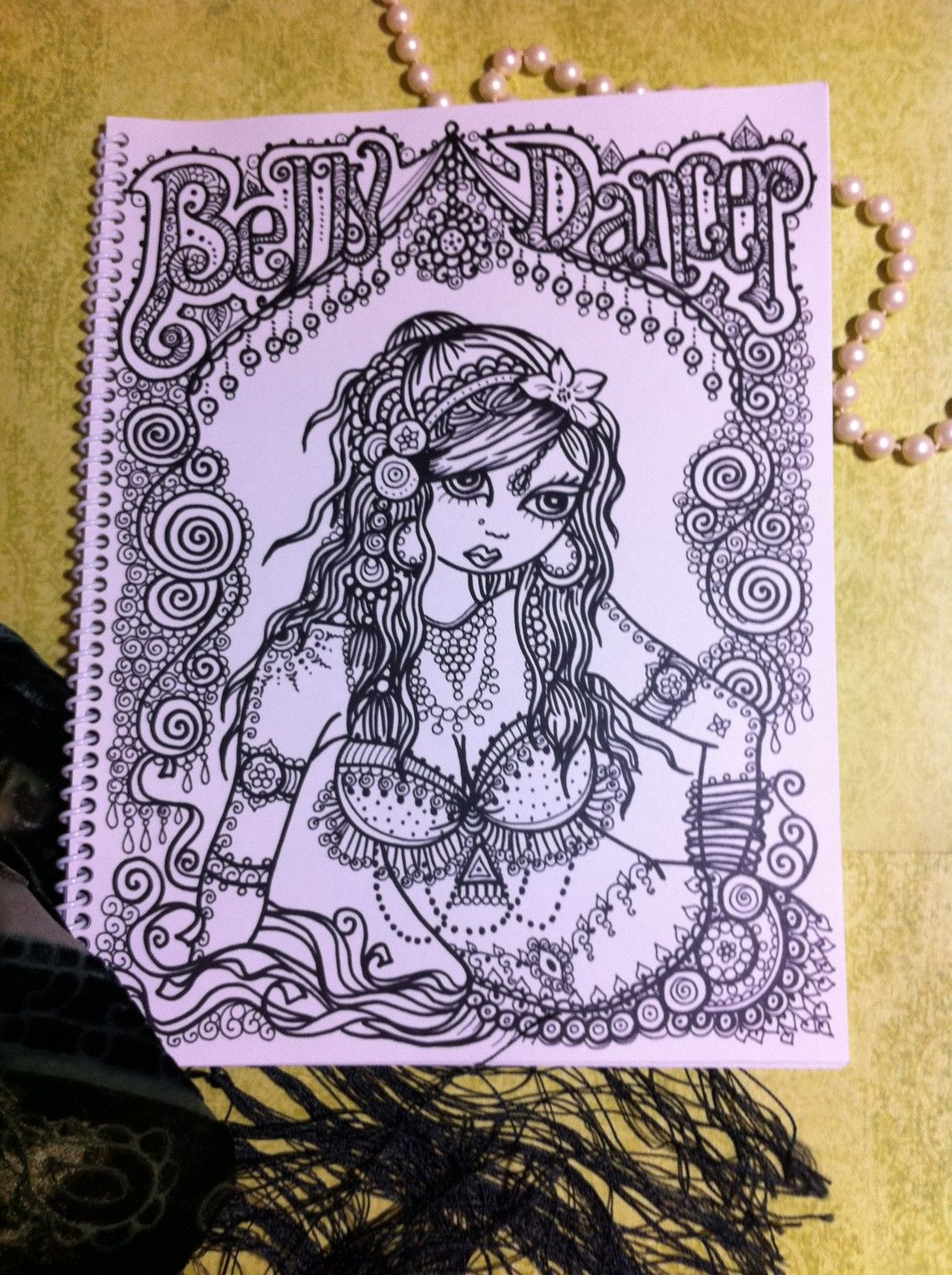 coloring book fun and flirty belly dancer от chubbymermaid