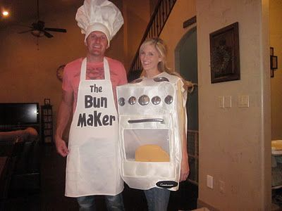 pregnancy costume couples halloween costume idea the bun maker the oven too funny shane could even wear his fat suit with it - Pregnant Halloween Couples Costumes