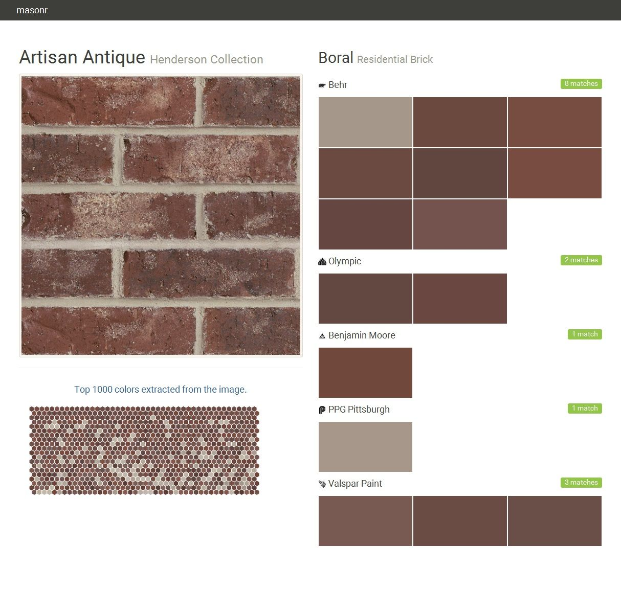 Artisan antique henderson collection residential brick - Exterior house paint colors 2016 ...