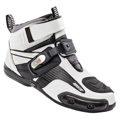 Joe Rocket Atomic Men's Motorcycle Riding BootsShoes (White