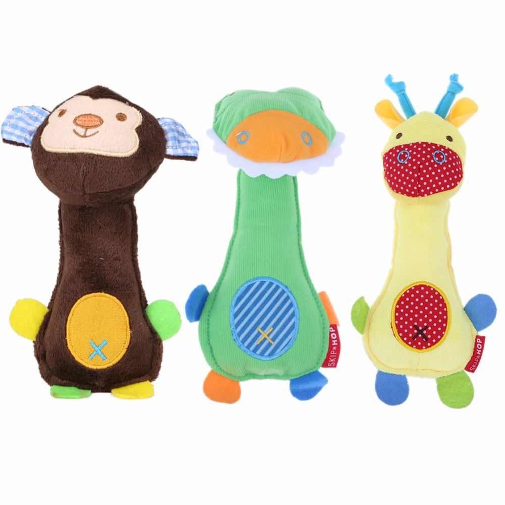 New Dog Toys Pet Puppy Chew Squeaker Squeaky Plush Sound Toys