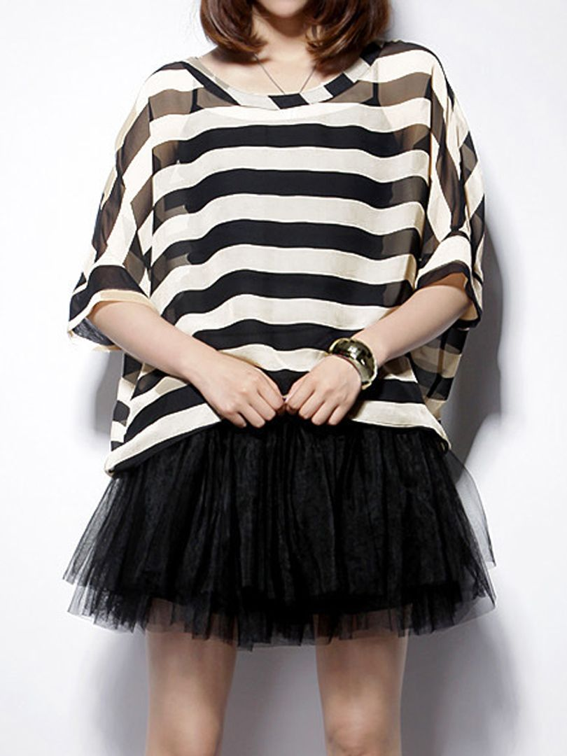 Striped Two-piece Suit With Cami Dress - Fashion Clothing, Latest Street Fashion At Abaday.com