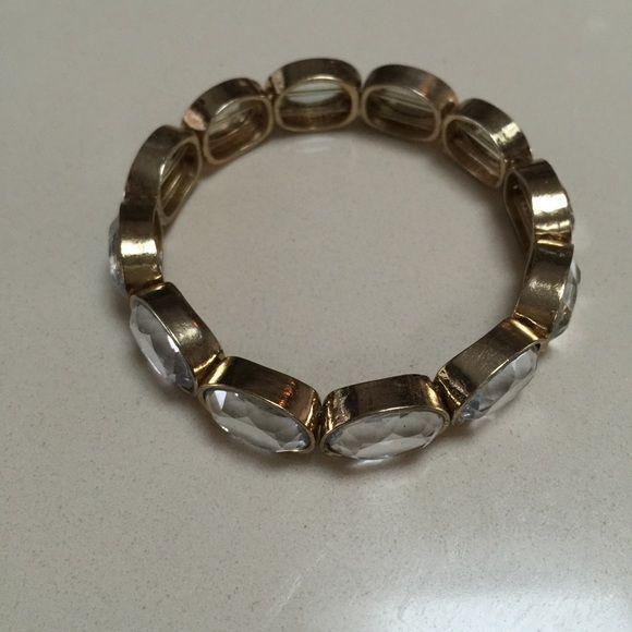 JCrew bracelet Clear stones stretch bracelet... J. Crew Jewelry Bracelets