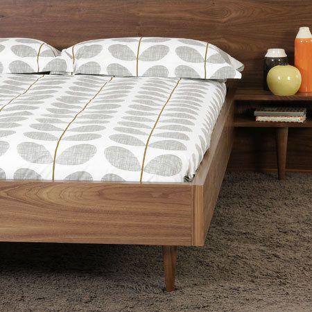Orla Kiely Grey Scribble Stem Bedding Sets Single Double King Amp Super King Gray Duvet Cover Print Bedding House Bed