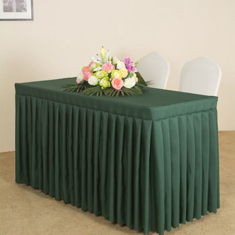 Solid Banquet Party Out Door Table Cloth Rectangle Decor Office Desk Cover For Meeting 47