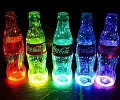 Mit Knicklichter Neonparty Schwarzlicht Party Cola Flasche