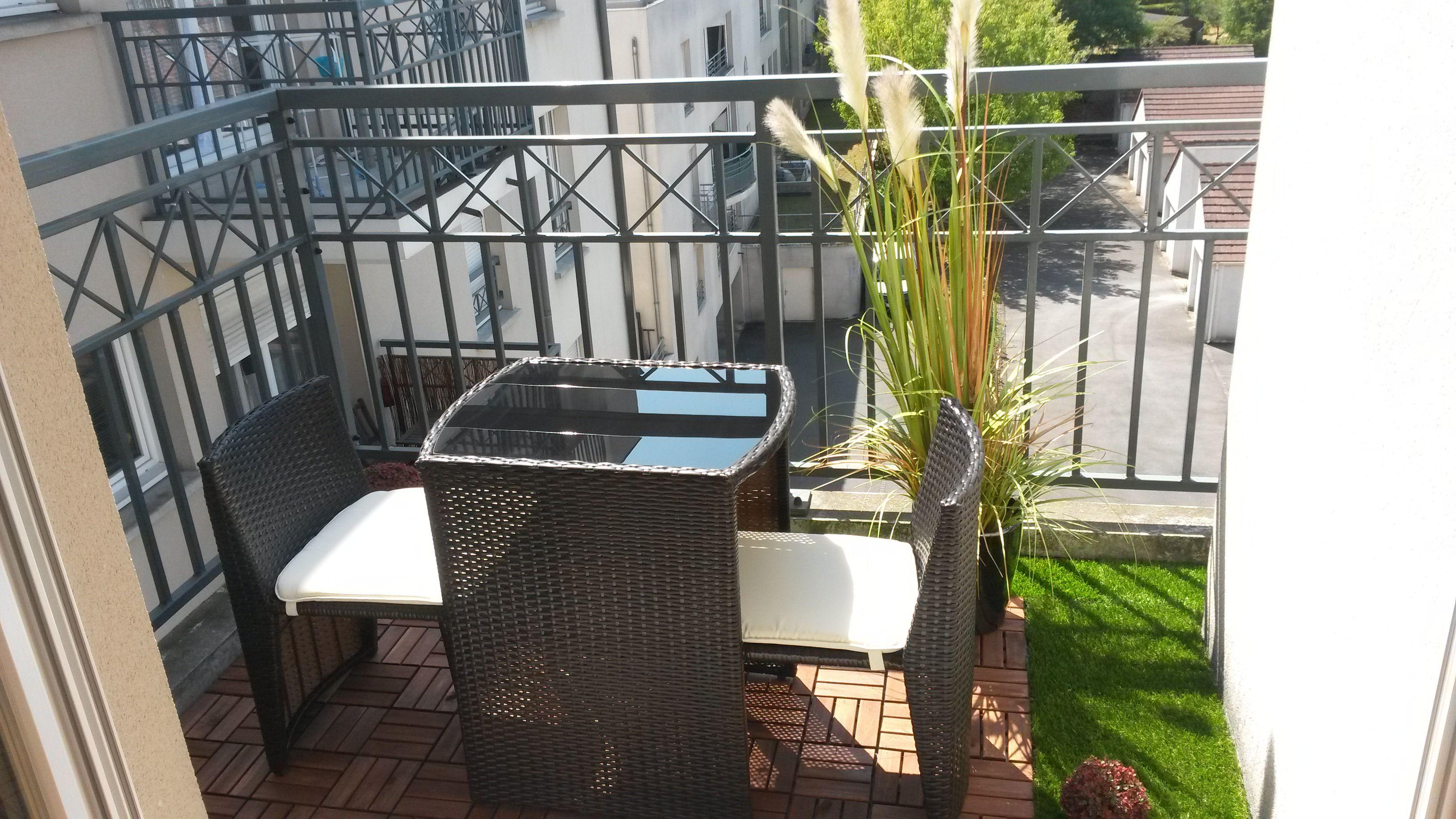 Doppio : table de jardin encastrable en résine tressée 2 places ...