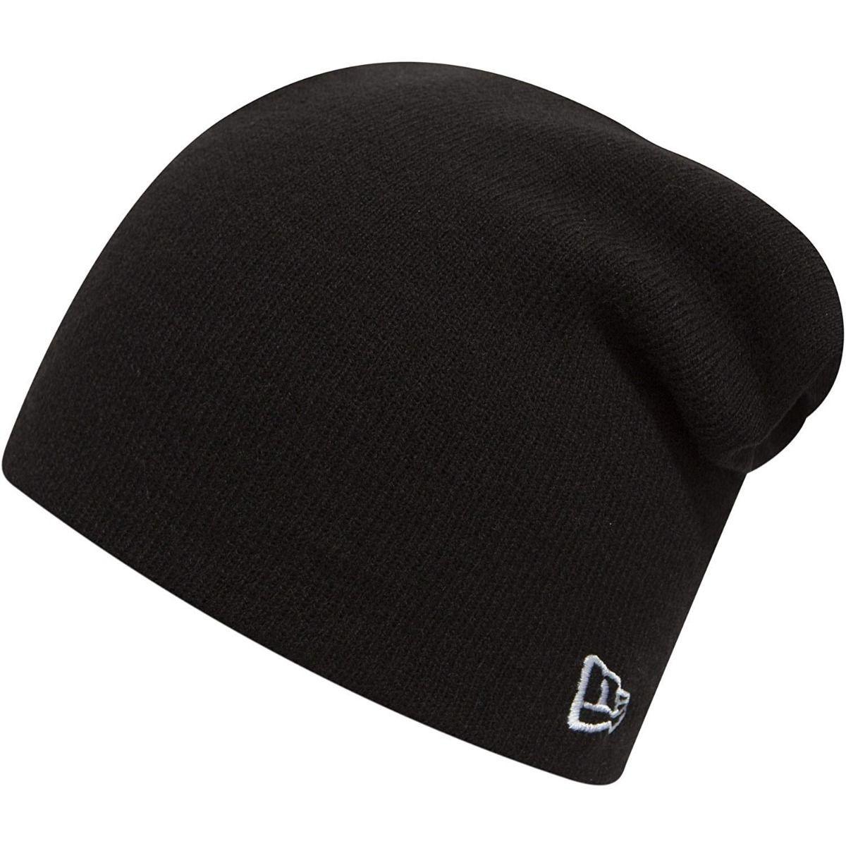 430541b3d08af New Era Essential Long Knit Beanie - Black   Optic White