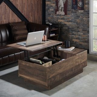 Furniture Of America Hernan Distressed Lift Top Coffee Table