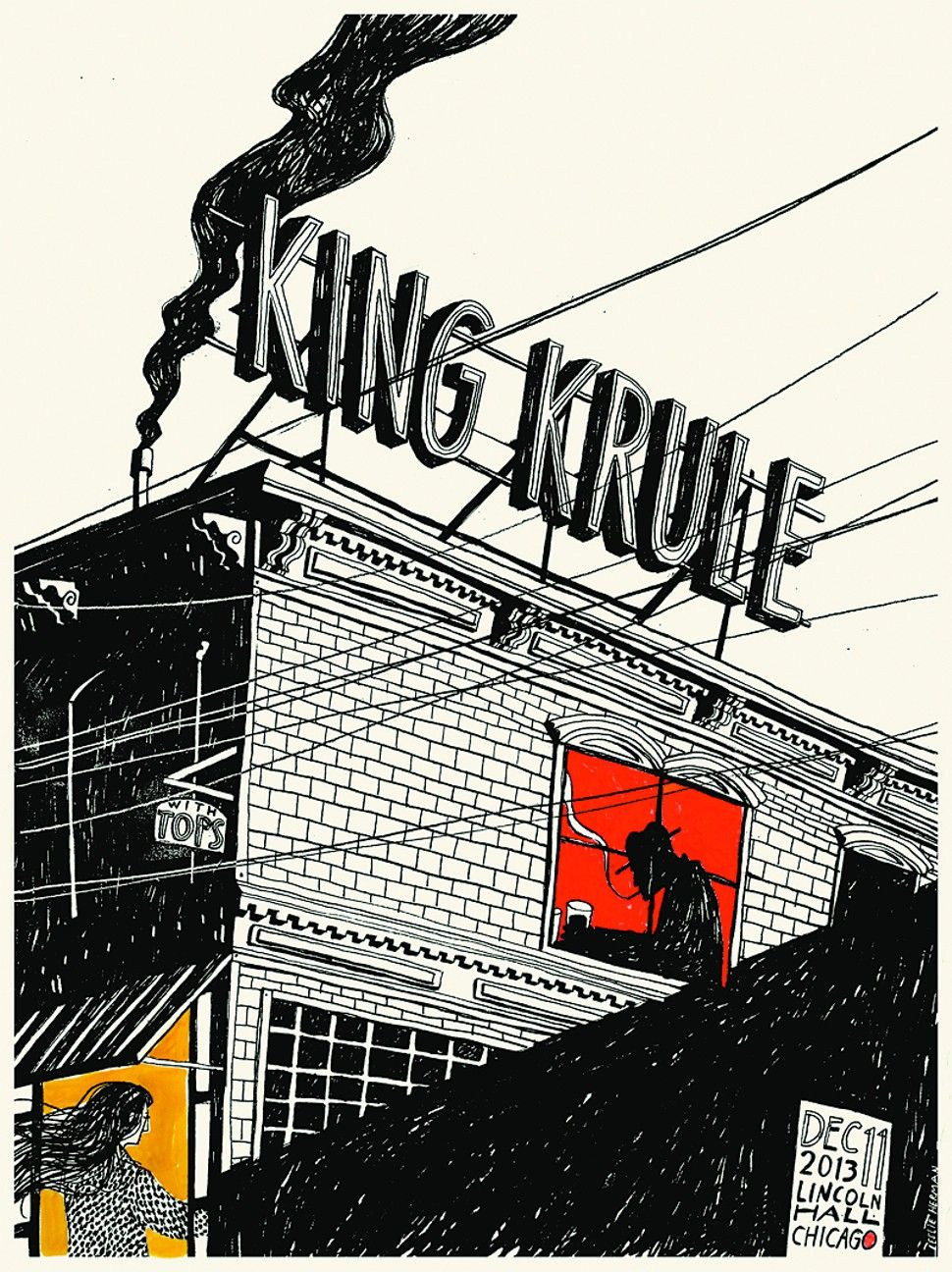 Arte Concert King Krule Gig Poster Of The Week King Krule On The Rooftops All The