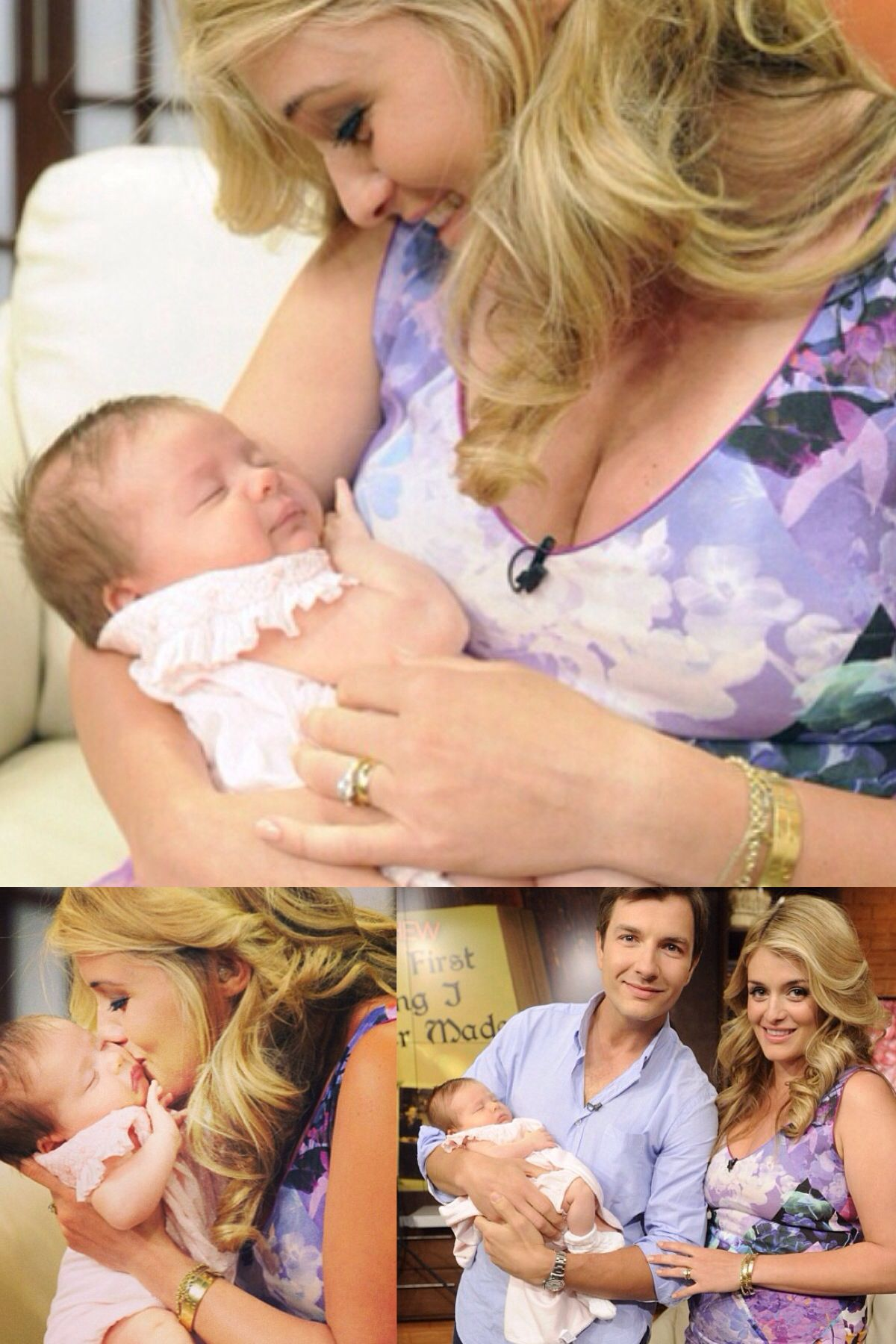Daphne Oz From The Chew Holding Her Daughter Philomena And Her Husband Celebrity Babies Celebrity Families Daphne Oz