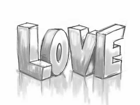 how to draw 3d love graffiti letters youtube always wanted to be rh pinterest com