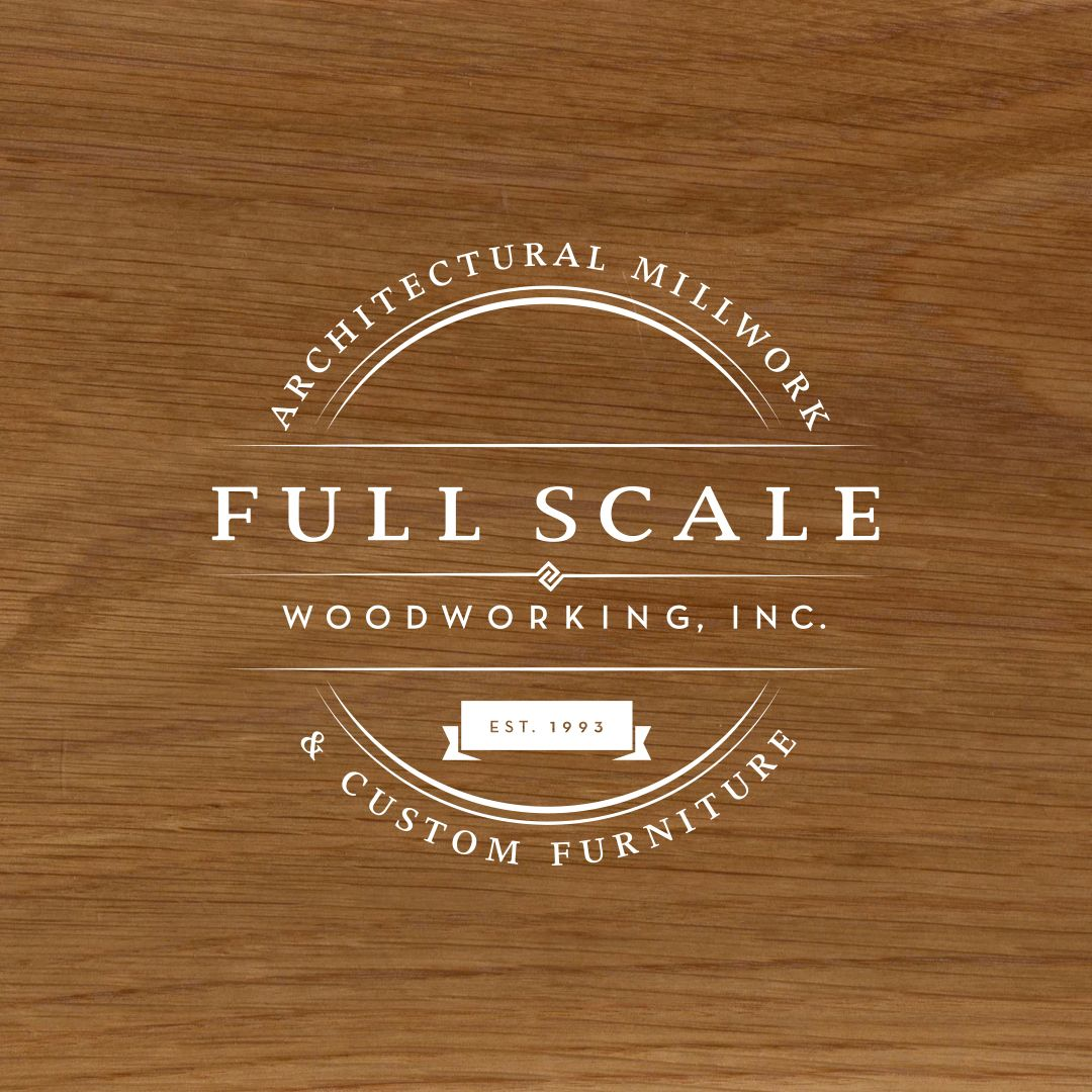 Badge Style Logo Design For Full Scale Woodworking An