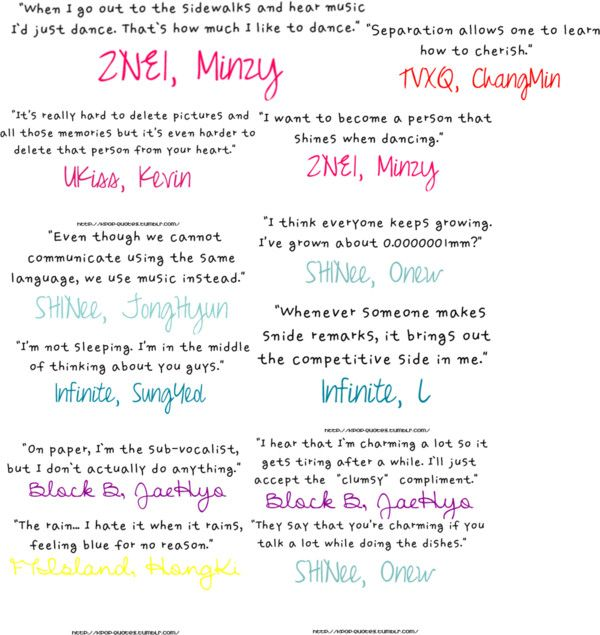 Inspirational Kpop Quotes: Kpop Quotes :3