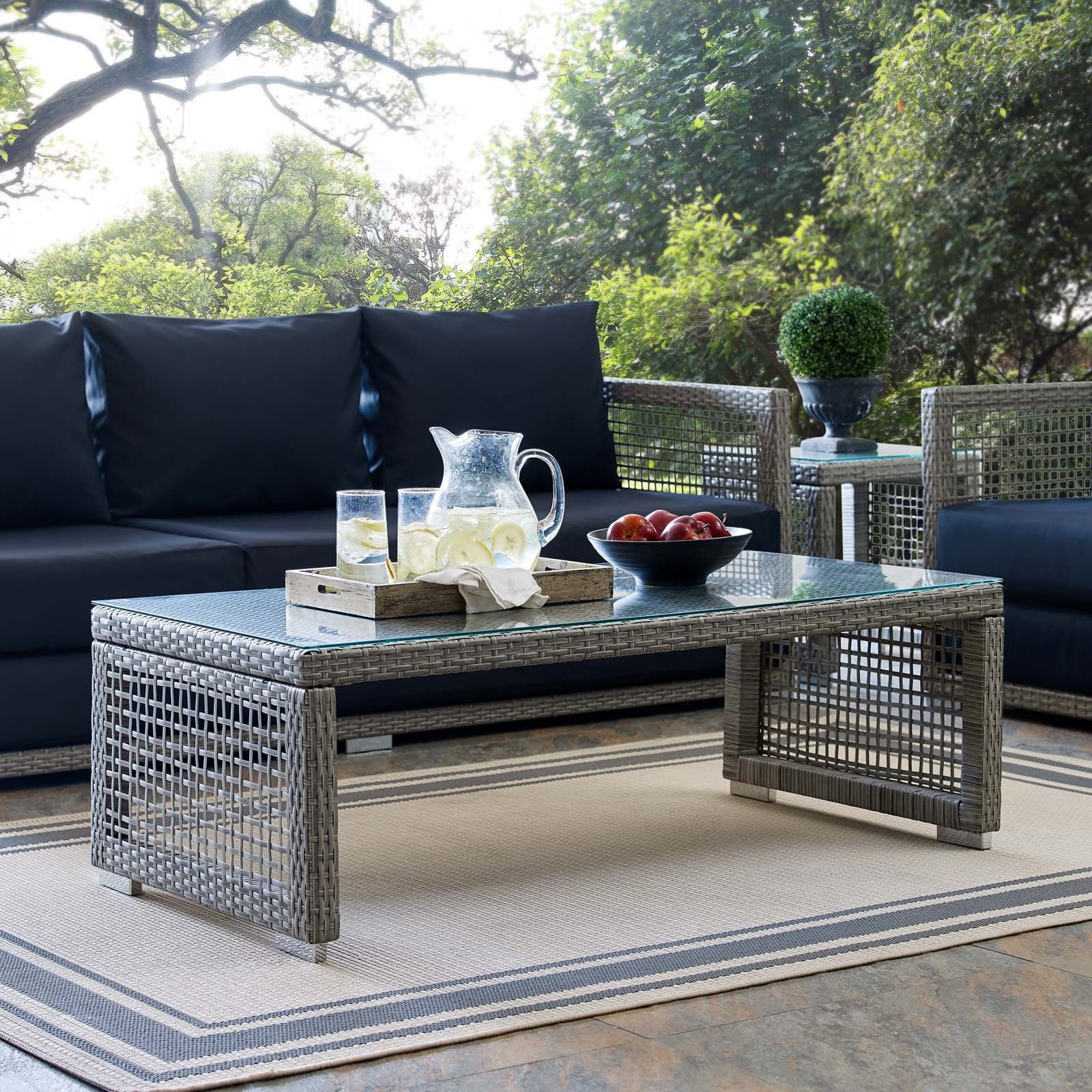 Home Outdoor coffee tables, Wicker coffee table, Rattan