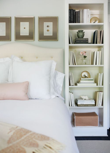Bookshelves Flanking Bed Idea For The Master Bedroom Home