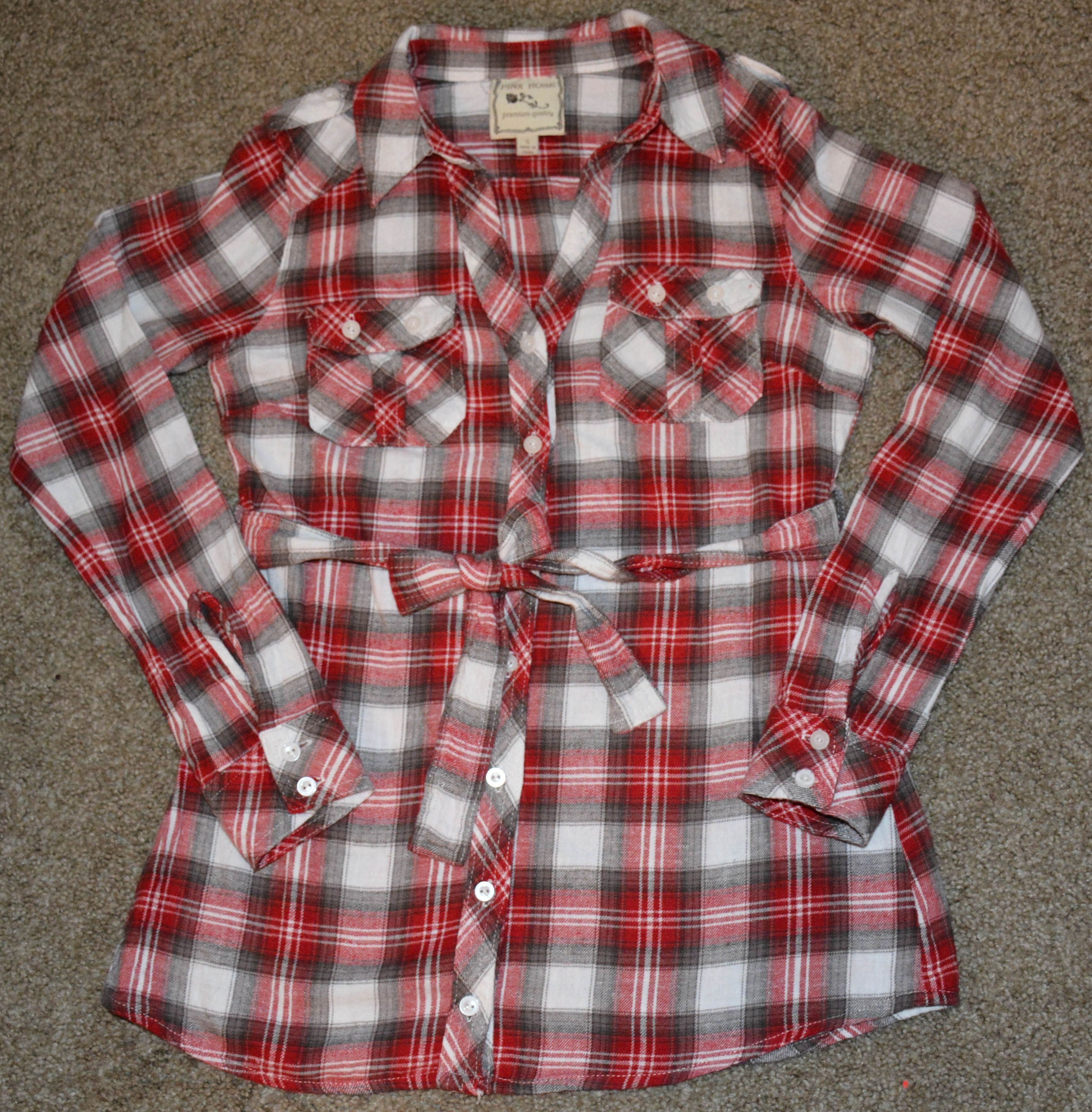 Mudd Junior's Size XS Flannel Western Shirt