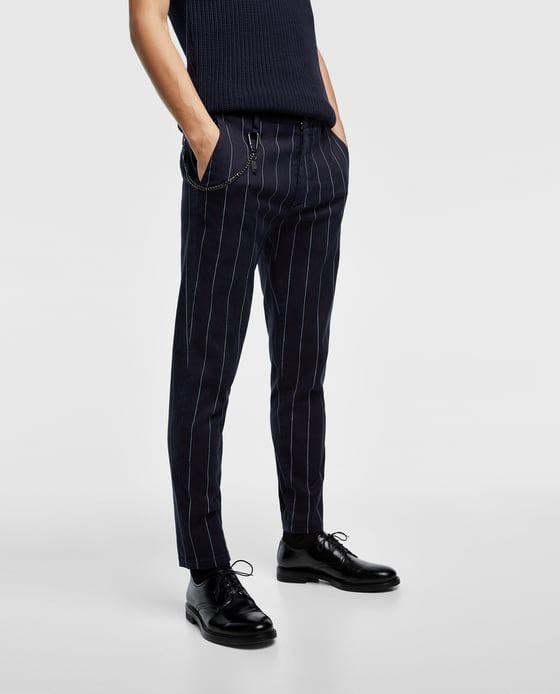 image 2 de pantalon rayures et cha ne de zara style en. Black Bedroom Furniture Sets. Home Design Ideas