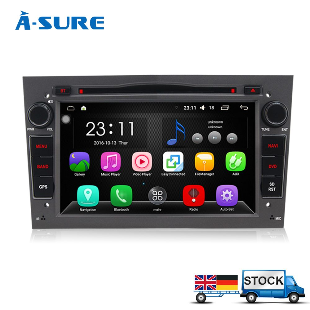 7 Android 6 0 Car DVD Player Radio GPS for Opel Astra Vectra Corsa Tigra Zafira