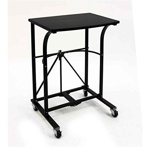 Rolling Laptop Desk Portable Computer Table Folding Cart Work Area Workstation Small Computer Desk Desk Folding Computer Desk