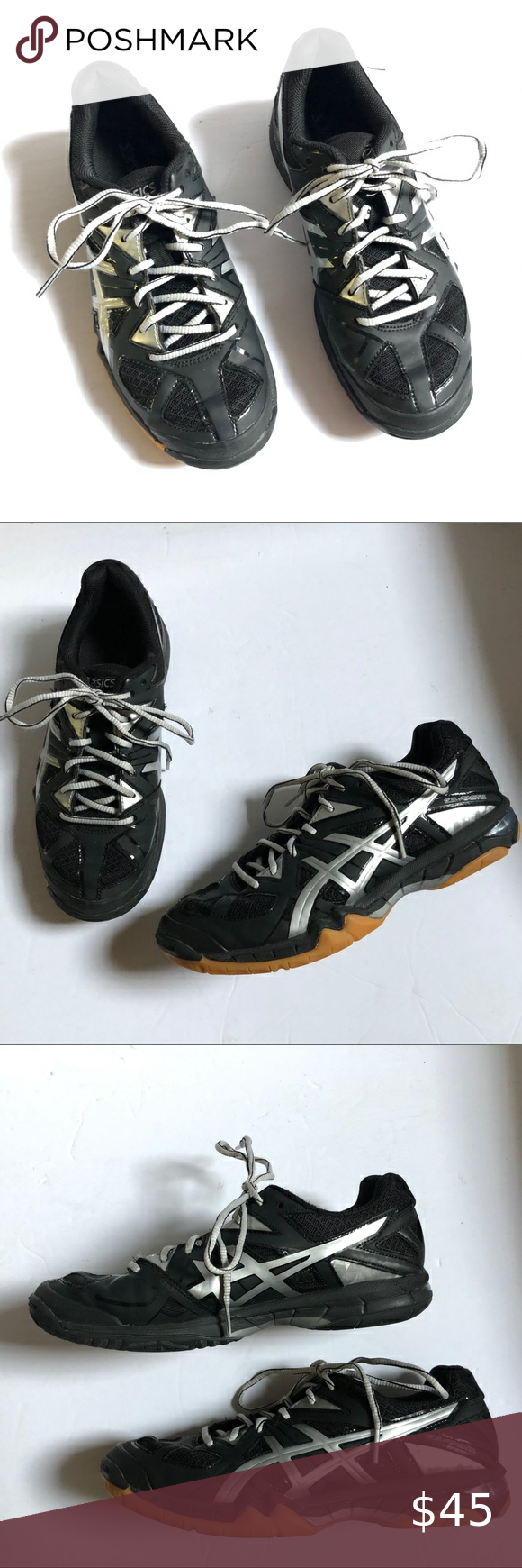 Asics Volleyball Shoes Women S Size 7 5 Black In 2020 Women Shoes Volleyball Shoes Asics Volleyball Shoes