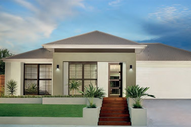 Front Facade Option Http Www Plantationhomes Com Au All New Homes Facade House Small House Design Plans Exterior House Colors